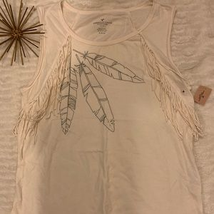 NWT American Eagle White / Cream Tank Medium